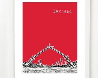 Baghdad Iraq Poster - Baghdad City Skyline Series Art Print