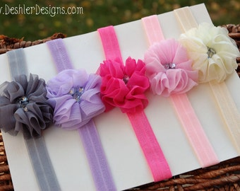 Baby Flower Headbands, Baby Flower Headband, baby headband, baby headbands, boutique baby headbands, flower baby headbands, baby girl gift