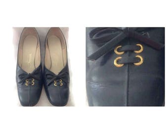 Vintage Ladies Blue Shoes