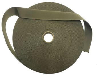 "5 Metres - Light Olive 38mm / 1.5"" Webbing - UK Woven - Military Specification"
