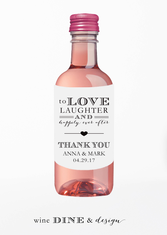 Mini Wine Bottle Wedding Favors | Giftwedding.co