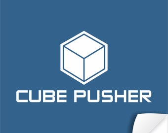 Cube Pusher Poster | tabletop and Euro gaming decor art for board game geeks | Euro gamer poster artwork for your game room