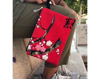 Bolso de mano. women handbag. bolso de  pulsera. telas japonesa. clutch. bolso algodon. mircrofibra. bolso fiesta. bolso boda. Listo envio