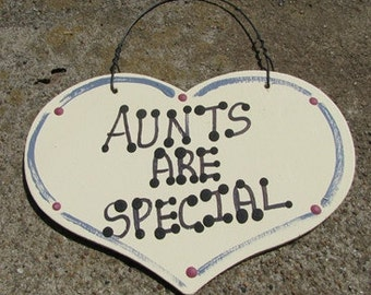 Wooden Grandmother Large Heart Aunts Are Special