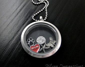 Pick 5 Charms of your choice  /  Floating Locket  /  Memory Locket  / Hand Stamped Jewelry