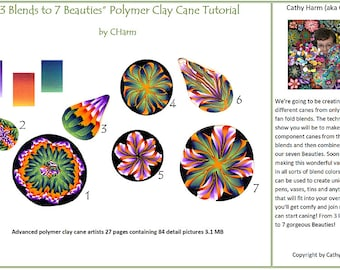 Blends to Beauties polymer clay cane tutorial by CHarm