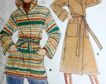Fab Wrapped Coat Pattern in Two Lengths---Buterick 5658---size 12 Bust 34