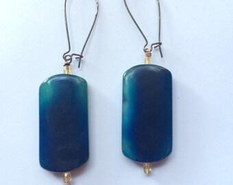 Cobalt Agate Earrings