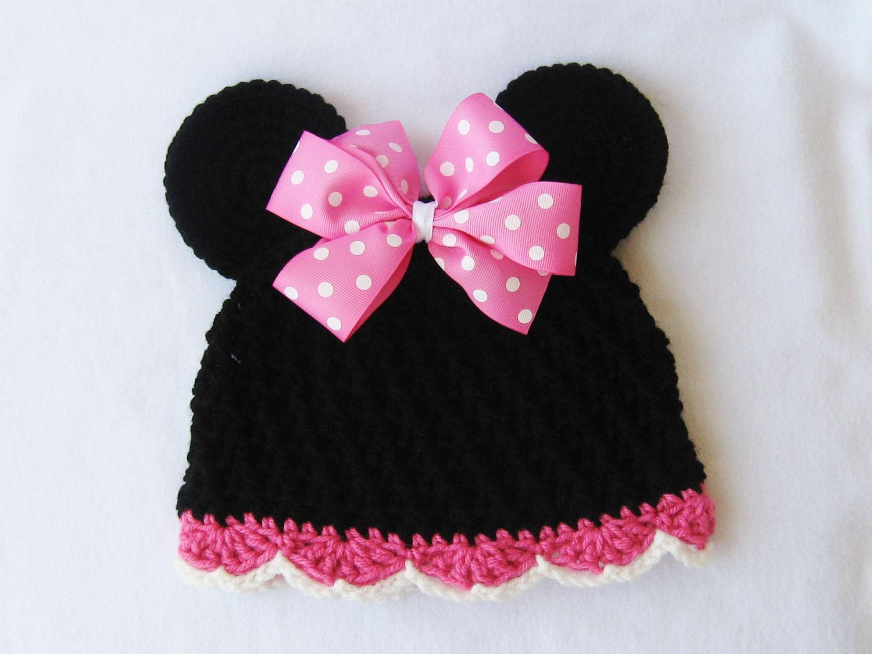 CROCHET PATTERN - Minnie Mouse Hat - crochet hat, crochet beanie ...