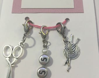 5.5 mm Crochet Hook Size, Crochet Stitch Markers, Trio of Stitch Markers, Hook Size, Work in Progress