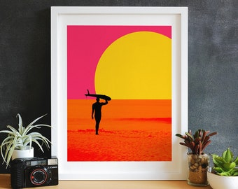 Endless Summer inspired Surf Art, Surf Decor, Surf Print, Surf Canvas, Surf Photography, Beach Decor, Beach Print, Beach Art, Wall Art
