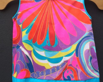 Gorgeous original 1960's psychedelic dress/top