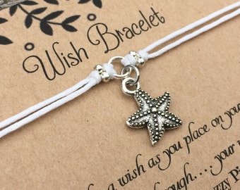 Starfish Wish Bracelet, Make a Wish Bracelet, Starfish Bracelet, Friendship Bracelet, Surf Jewelry, Beach Bracelet, Gift For Her, Small Gift