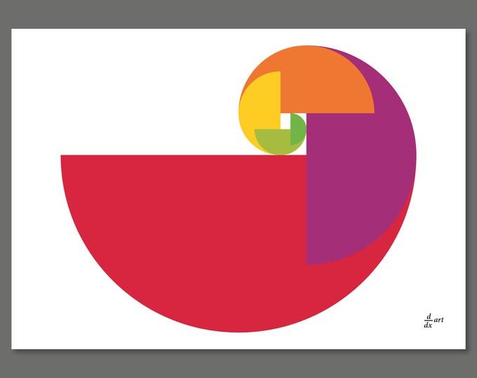 Golden Ratio Parrot 03 [mathematical abstract art print, unframed] A4/A3 sizes