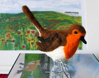 Mrs Robin - Robin Redbreast - Garden Bird - Bird - Handmade - Collectable