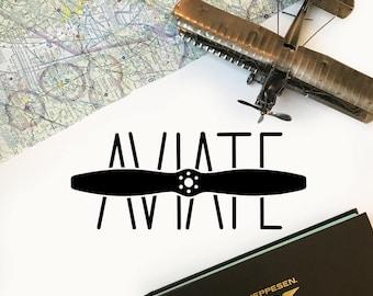 Aviate Decal