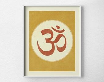 Om Print, Yoga Print, Yoga Studio Decor, Meditation Print, Wall Art, Inspirational Print, Yoga Poster, Zen Print, 0183
