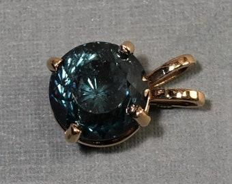 6.88 Carat Montana Sapphire Pendant