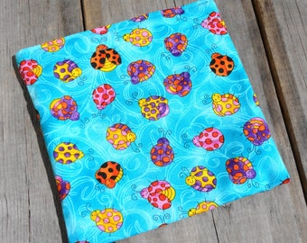 Reusable Snack Bag - Single Bag in Dancing Bugs, Ladybug