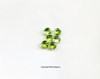 AAA 4 mm Natural Semi Precious Faceted Round Brilliant  Pakistan Peridot For One