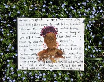 I've Got A Rose Garden In My Hair ORIGINAL Painting