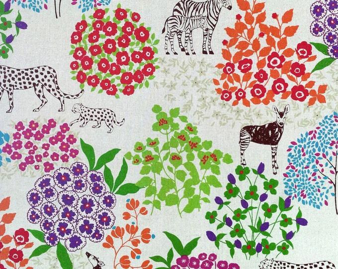 Echino by Etsuko Furuya - Cotton Linen Fabric - Bond EF704 Natural, end of bolt 28 inches