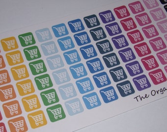 78 Mini Icon Grocery Stickers / Shopping Stickers / Cart Stickers / Planner Stickers