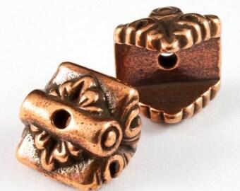 "6.75mm x 9mm Antique Copper Tierracast ""Luna"" Bead Cap #CKC165"