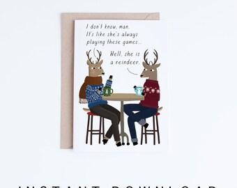 printable funny christmas cards