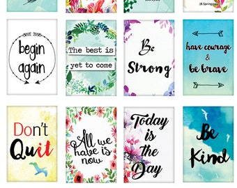 Encouraging Words - Ceramic Waterslide Decal - Enamel Decal - Fusible Decal - 82351S