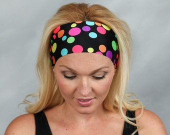 Yoga Headband-Running Headband-Fitness Headband-Workout Headband-Wicking Headband-No Slip Headband-Wide Bohemian Headband-Fashion Headband