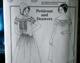 1980s Past Patterns 706 Petticoat and drawers womens  size 10 to 20