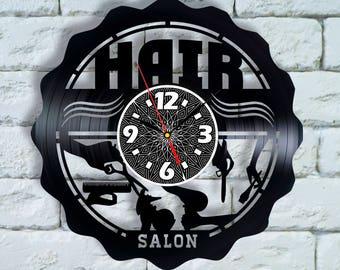 Scissors wall decor Salon wall decor wall clock, beautician gift hairdresser gift, hair dresser sign, cosmetologist gift, hair dresser decor