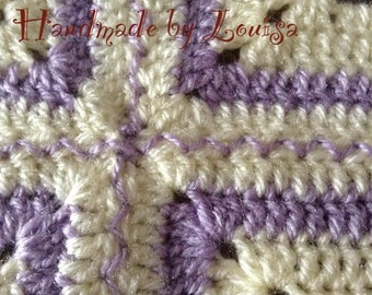 Lilac/lavender and cream blanket