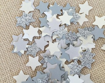 Twinkle Twinkle Little Star Silver Glitter Confetti,Baby Shower, Wedding Confetti,Silver Confetti,Paper Star