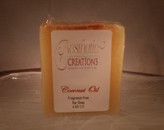 Coconut Oil Bar Soap Fragrance Free