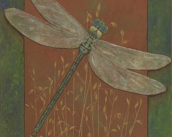 Dragonfly Fleeting Fancy of the Field by Carrie Martinez // Surrealism, Mysticism, Goddess, Tarot and Visionary Art