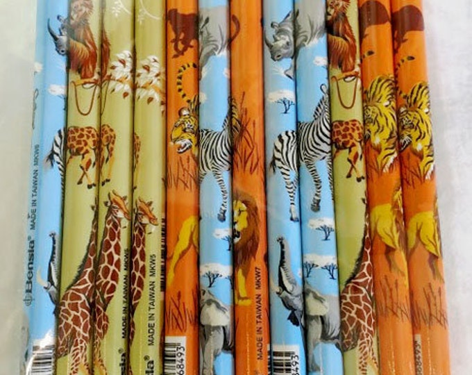 New! Fun Animal Mechanical Pencils! Zebras, Lions, Monkeys, Giraffes! Great for birthday favors, jungle themes. .25 each. Sold in dozens.