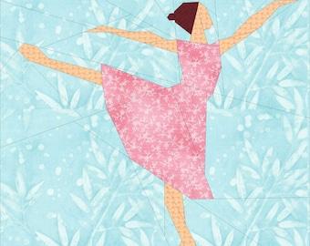 Ballerina- A Foundation Paper Pieced Quilt Block Pattern- 14 Inch