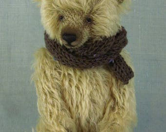 A traditionally handmade teddy bear in quality German mohair