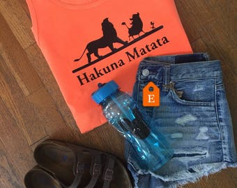 Hakuna Matata comfort color tank, FLASH SALE, Lion king disney world,  disney world tank, disney vacation tank top, disney vacation shirt