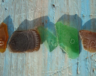 Lettered Sea Glass S, A, R, D, a-sea glass with Letter Pattern-Italian sea glass-Rare sea Glass-Jewelry Supplies
