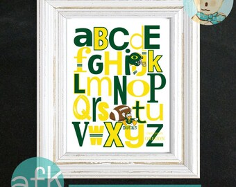 OREGON DUCKS Team ABC Nursery Art Print