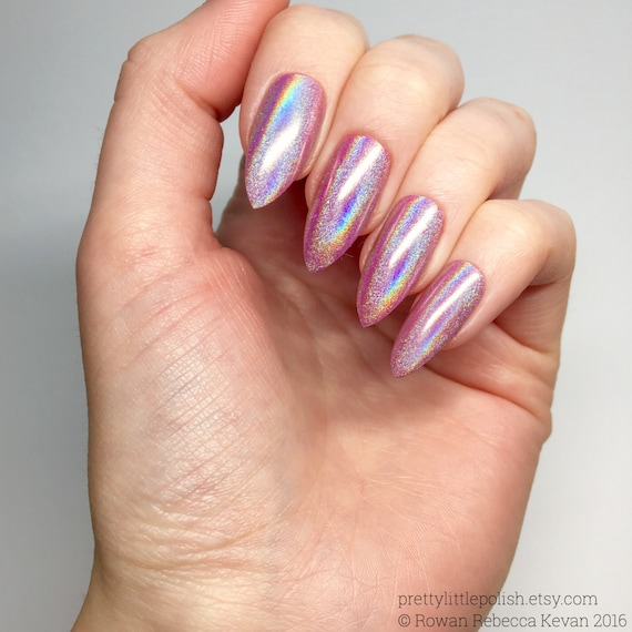 Chrome Nail Powder Cnd: Pink Unicorn Chrome Powder Nails Unicorn Chrome Powder Nails