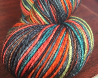 Fall-ing for you - Self Striping Sock yarn - dyed to order - 7 stripes