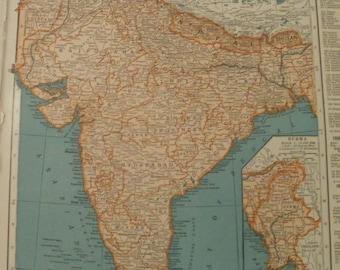 Nepal map etsy india mapchina mapnepal bhutan ceylon french indochina siam koreaplace on gumiabroncs Gallery