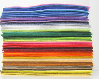 Wool Felt  - 30 sheets -  9x12 inch  - Wool Blend Felt - DIY Felt Crafts