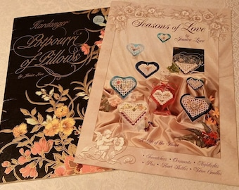 Janice Love~Hardanger Potpourri of Pillows and Seasons of Love 2 booklets