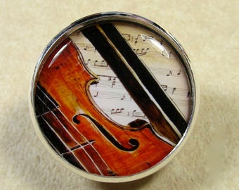 Violin Pin, Violin Brooch, Violin Jewelry, Music Pin, Music Brooch, Music Jewelry, Orchestra Pin, Orchestra Brooch, Orchestra Jewelry