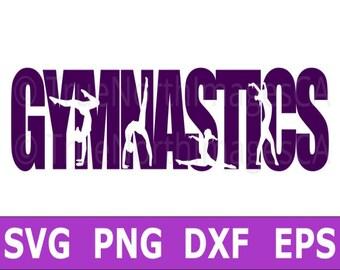 Gymnastics SVG / Gymnast SVG / Gymnastics Clipart / Gymnastic Vector / SVG Files for Cricut / Silhouette Files